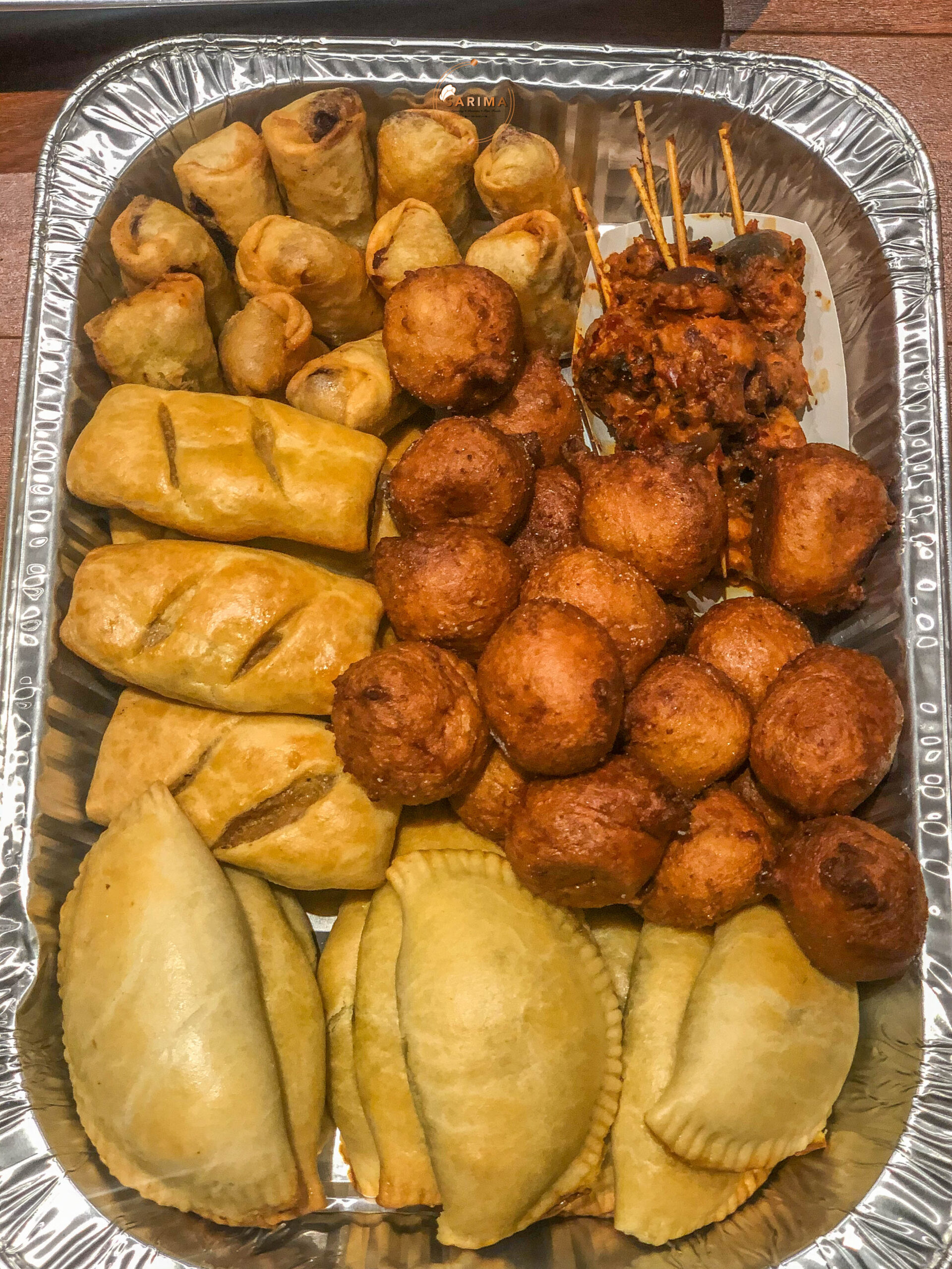 Small Chops Platter with meatpie